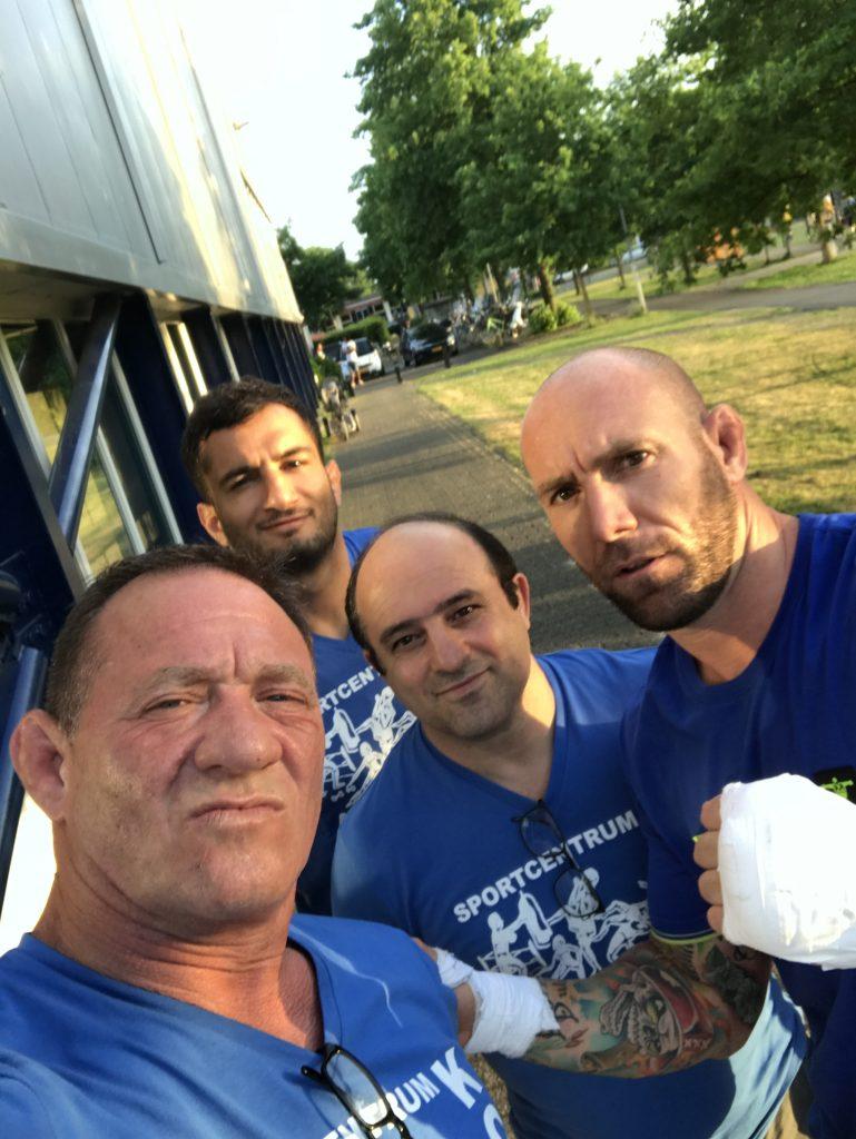 Joey Berkenbosch, Bert Kops, Gegard Mousasi en Kamran Bakhtiari