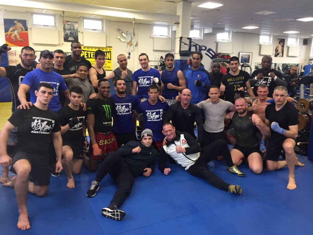 Team Mousasi sparring